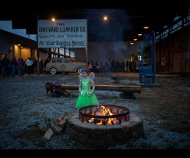 Outdoor space wedding at Brevard LumberYard