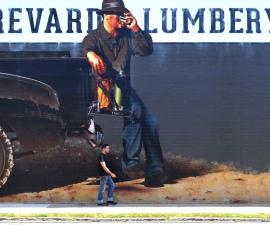 Mural at Brevard LumberYard