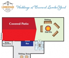 Brevard LumberYard weddings venue layout