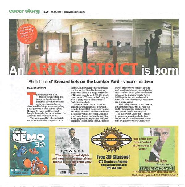 An Art District is Born - Brevard Lumber Yard