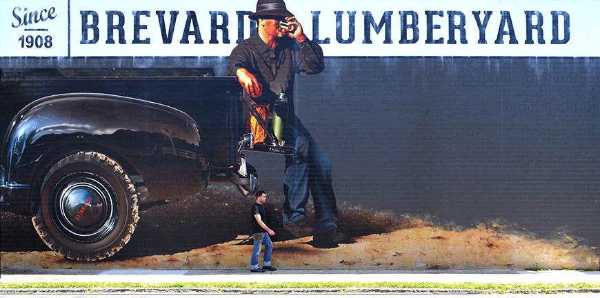 Brevard LumberYard's Mural
