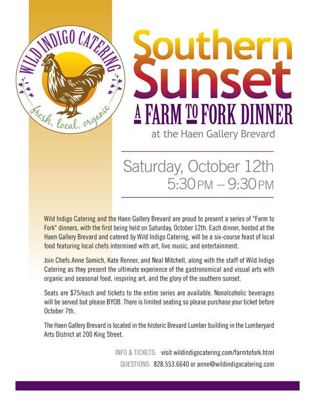 Southern Sunset a Farm to Fork Dinner at haen gallery