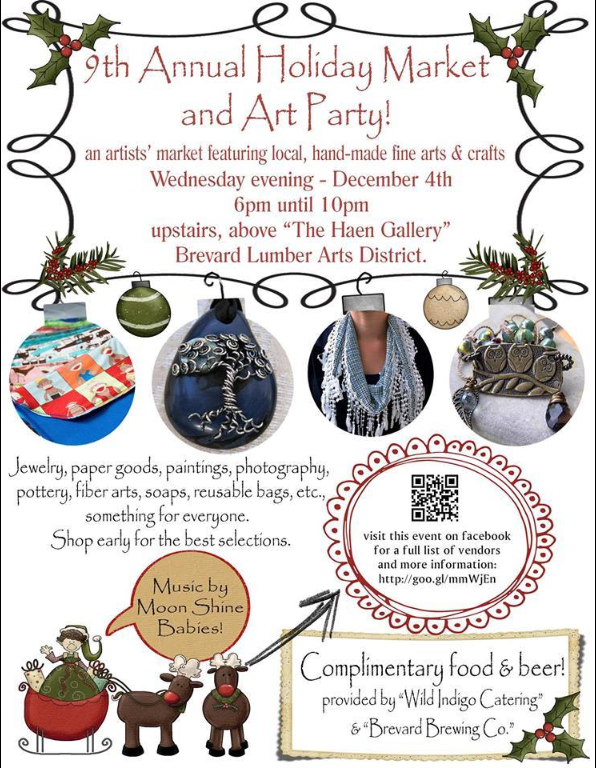Brevard Lumber Arts - Holiday Market and Art Party