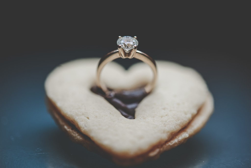 Wedding ring in cookie